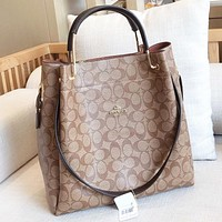 COACH Fashion new pattern print leather women crossbody bag shoulder bag handbag bucket bag
