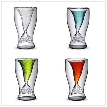 Reinforced Glass Mermaid Tail Shot Glasses