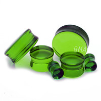 Green Apple Glass Plugs (3mm-25mm)