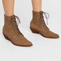 Suede Grove Lace-Up Western Boot