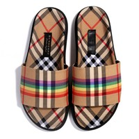 BURBERRY Classic Popular Women Casual Plaid Sandal Slipper Shoes
