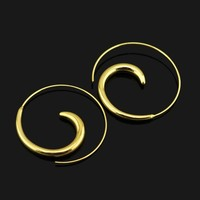 Fashion New Silver/Black/ Rose Gold Hoop Earrings for Women 2016 Girls Lady Gift  ZZN Best Quality Jewelry Free drop shipping
