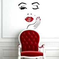 Wall Decals Girl Lady Face Hand Manicure Barbers Hairdresser Hairstyle Interior Beauty Salon Any Room Vinyl Decal Sticker Home Decor L171