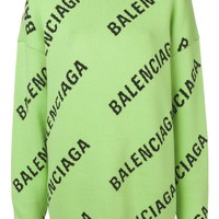 All Over Lime Green Jumper by Balenciaga