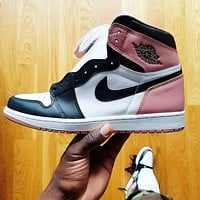 Nike Air Jordan 1 Retro High Rust Pink Basketball Shoes Sneakers
