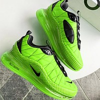 NIKE MAX-720-818 Trending Knit Line Shoe Plaid Shoes Sneakers Camouflage Green
