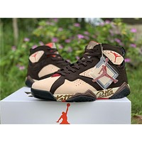 Air Jordan 7 Retro Patta Shimmer/Tough Red-Velvet Brown AT3375-200