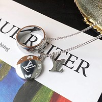 LV Louis vuitton classic ring trend fashion trend presbyopia ring men and women couple ring necklace