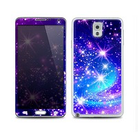 The Glowing Pink & Blue Starry Orbit Skin for the Samsung Galaxy Note 3