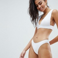 Missguided Super Plunge Bikini at asos.com