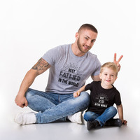 Best Father in the World, Best Kid in the World, Father daughter shirt, Father Kid Shirt, Father Son Shirt, Father's Day T-Shirt, UNISEX