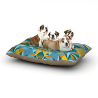 "Nika Martinez ""Abstraction Blue & Gold"" Dog Bed"