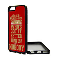 Apple iPhone 6 5C 5S 4S Generation Fitted Rubber Silicone TPU Phone Case Cover San Francisco 49ers Gold Blooded Niners Faithful