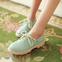 Women Flats Casual Lace Up Loafers Shoes