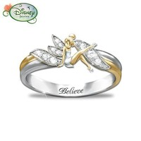 """""""Embrace The Magic"""" Tinker Bell Ring by The Bradford Exchange"""