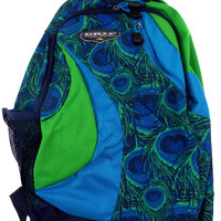 High Sierra Grip Dazzler Backpack Blue Green Padded Strap Travel Camping Hiking