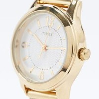 Timex Small Metal Mesh Watch in Gold - Urban Outfitters