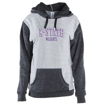 Official NCAA Kansas State Wildcats Color Block Kangaroo Pocket Pullover Hoodie