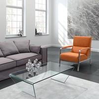 Zuo Migration Coffee Table Clear Glass - 404087