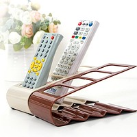 1PC New TV DVD Step Practical Four Remote Control Frame Plastic Remote Control Bracket Mobile Phone Holder Stand rack Up To 4