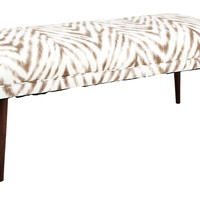 """Colette 49"""" Bench, Brown/White, Entryway Bench, Bedroom Bench"""