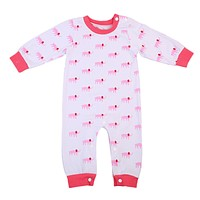 Spring Autumn Toddler Baby Girls Elephant printing Romper Cotton Long Sleeve Jumpsuit sleepwear Clothes Outfits Set
