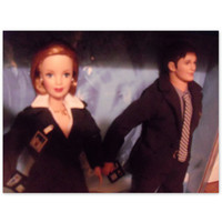 X-files Barbie dolls, Skully and Mulder.  By Mattel. From 1990's. Vintage Barbie and Ken. Boxed. Never opened.
