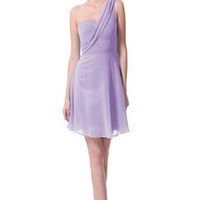 Pastel Lilac One Shoulder Dress With Sash