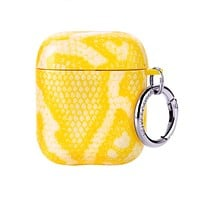 Yellow Snake Airpods Case