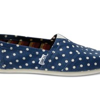 Toms - Womens Linen Classic Slip-On Shoes