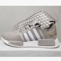 """Adidas"" Women Men Trending NMD Running Sports Shoes Beige"