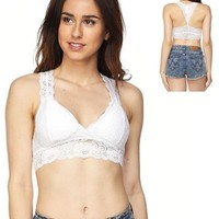 Padded Lace Racerback Bralette