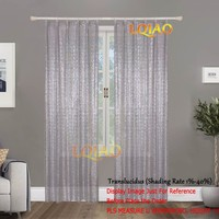 LQIAO 60x250cm Silver Shimmer Sequin Curtains,Sequin Backdrop,Wedding Photo Booth Props,Glitter DIY Party/Bedroom Decorations