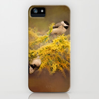Pot of Gold - Chickadees - Song Birds - Wildlife iPhone & iPod Case by Jai Johnson