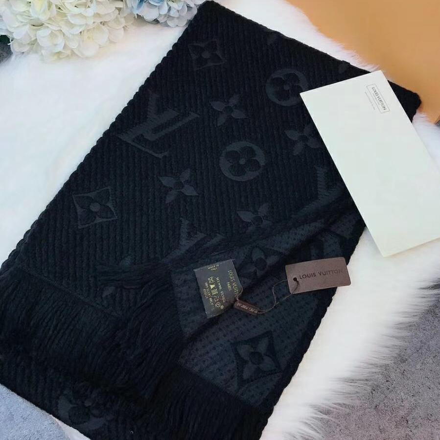 Image of Perfect Louis Vuitton LV Women Wool Scarf Shawl Scarf