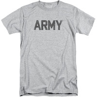 ARMY/STAR-S/S ADULT TALL-ATHLETIC HEATHER-2X