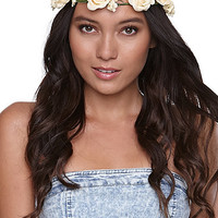 With Love From CA Ivory Flower Crown at PacSun.com