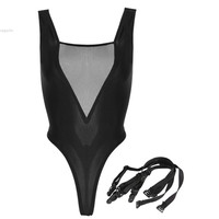 Excellent !2014 Women Sexy Bodysuit Black Mesh Bodysuit Erotic Underwear Lingerie 30