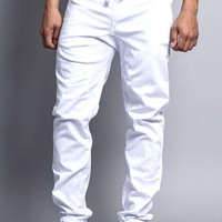 Men's Jogger Twill Pants (White)