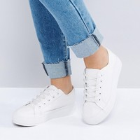 New Look Wide Fit Chunky Flatform Trainer at asos.com