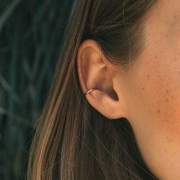 Gold-Filled Smooth Ear Cuff