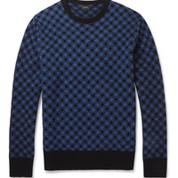 J.Crew - Check Knitted-Wool Sweater | MR PORTER