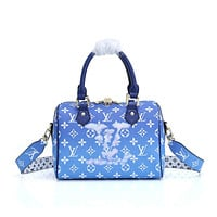 LV Louis Vuitton MONOGRAM CANVAS SPEEDY HANDBAG INCLINED SHOULDER BAG