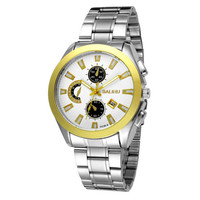 Mens Fashion Sports Steel Strap Watch with Display Date Superior Quality Best Christmas Gift