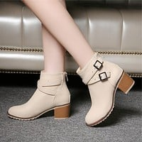 Two Buckes Ankle Boots
