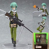 "Anime Sword Art Online II Asada Shino Sinon 6"" Figma PVC Figure 241 New In Box"