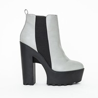 Missguided - Ferne Cleated Platform Heeled Chelsea Boots