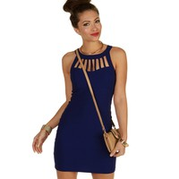 Blue Cage Bombshell Dress