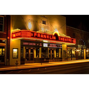 Franklin Theater Downtown Tennessee Photography landmark Canvas Metal Print Bedroom wall art poster Williamson County