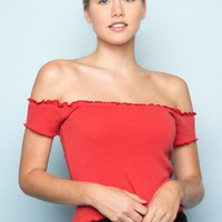 Anya Top - Off the Shoulder - Tops - Clothing